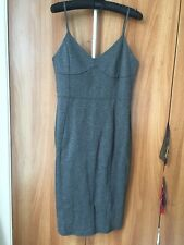 H&M Grey Knee Length Fitted Slip Dress * Large - UK 16/18