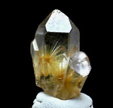 22ct NATURAL Clear Golden Sun RUTILATED Crystal Point Specimen