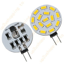 2 X G4 Reading Light 525-Lumen 15 SMD 5630 LED Warm White Bulb Lamp 12V 24V AC