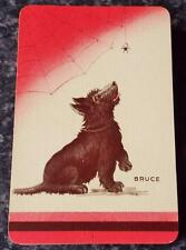 Bruce - Scottie Dog - Vintage Pack of 1930's Alf Cooke Playing Cards