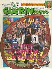 GUERIN SPORTIVO=N°13 1988=FASCICOLO EUROPEI STORY 1980=POSTER PESCARA 87/88