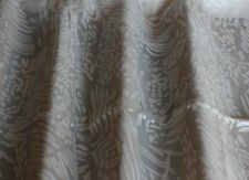 """White Burn-Out Silk Charmeuse 100% Silk Fabric 44"""" Wide, By Yard (JD-426)"""