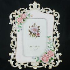 Retro Rose Flower Pink Home Decor Photo Frame Picture Resin 4''*6'' KW092