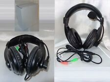 Stereo Headset Mic PC Notebook VOIP SKYPE MSN CHAT MULTIPLAYER Kopfhörer Black