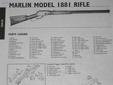 MARLIN MODEL 1881 RIFLE EXPLODED VIEW