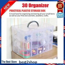 Case30 Craft Plastic Storage Box Container Makeup Organizer Nail Polish Jewelry