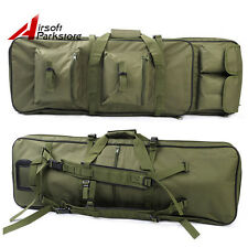 "33""/85cm 3Ways Hunting Tactical Dual Rifle Gun Bag Case Paintball Olive Drab"