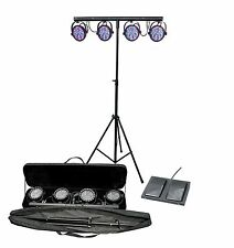 NEW Chauvet DJ Mini 4BAR LED Mobile Stage Wash Light System w/ Footswitch & Bag
