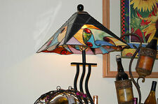 Stained glass 4 Panel Lamp multi colors country style