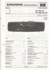 Grundig Service Anleitung Manual RR 1900 CD (+LW)  B785