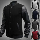 2016 Retro Style Mens Varsity Letterman College Jacket Baseball Sport Jacket Top
