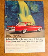 1961 Mercury Monterey Ad - Happy Discovery Room Pep & Economy