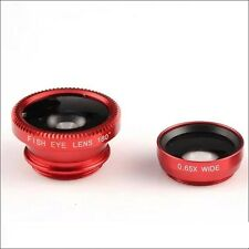 3 in1 Mobile Phone Camera Lens Set Wide Angle Fish Eye Macro Clip Ipad Iphone