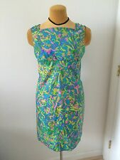 Vintage 60's Mad Men Style Groovy Bright Floral Style Dress Size S