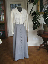 Edwardian style vintage 1990's skirt and blouse, 10, 12, 14