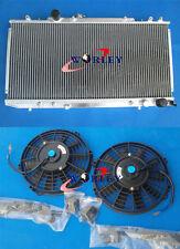 Aluminum Radiator & FANS for TOYOTA CELICA GT4 3S-GTE ST185 90-94 91 1993 ST185