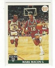 1991 FRONT ROW BASKETBALL MARK MACON #6 - TEMPLE