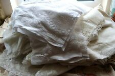 1kilo Lot cotton lace colours panels projects/crafts/reworking free UK post