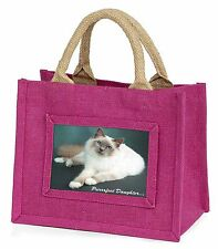 Birman Cat 'Purrrfect Daughter' Little Girls Small Pink Shopping Bag C, PD-85BMP