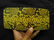 Genuine Python Skin BiFold Purse Handmade Snake Skin Men's Wallet Yellow