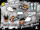 SCRUB DESIGNZ KTM EXC 450 - 525 '04 Grafik Sticker Dekor-Set Enduro 2004