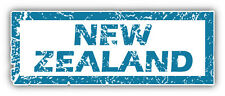 New Zealand Grunge Stamp Car Bumper Sticker Decal 6'' x 2''