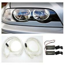 BMW E46 Non Projector Headlight Reflector CCFL Angel Eye Kit 6000K
