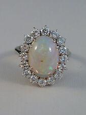 traumhafter Ring - Opal & Brillanten ca. 1,6ct - tolle Brillanz - 750er Weißgold
