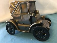 VINTAGE 1900 PILLBOX COUPE COIN BANK BANTHRICO, M-1160B AUGUSTA SAVING BANK
