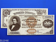 Replica $1,000 1880 Silver Certificate Note US Paper Money Currency Copy
