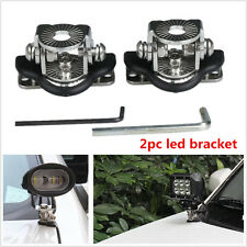 2× Led Work Light Bar Car Mount Bracket Holder For Offroad 304 Stainless Steel