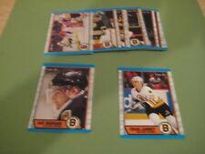 1989/90 O-Pee-Chee OPC Boston Bruins Team Set Craig Janney