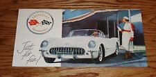 1954 Chevrolet Corvette Just for Fun Foldout Sales Brochure 54 Chevy