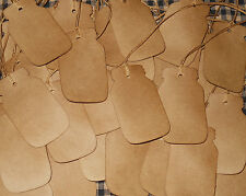 25 pc. CANNING MASON JAR SHAPE PRIMITIVE COFFEE STAINED HANG TAGS LOT