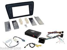 SKODA OCTAVIA 2014 ON BLACK PLATE DOUBLE DIN FACIA FITTING INSTALLATION KITT