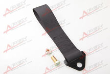 BLACK HIGH STRENGTH RACING TOW STRAP SET FOR FRONT/REAR BUMPER HOOK TRUCK/SUV E
