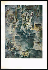 1950's Old VINTAGE Abstract Man Portrait PICASSO Art Offset Lithograph PRINT