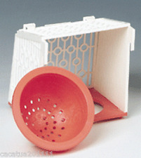 SUPERIOR QUALITY OUTSIDE PLASTIC NEST PAN & HOLDER FOR CANARIES/FINCHES