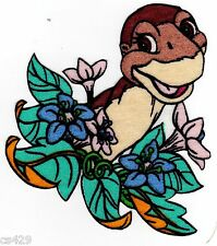 "4"" LAND BEFORE TIME DINOSAUR LITTLEFOOT  CHARACTER FABRIC APPLIQUE IRON ON"