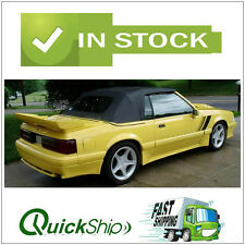 1991-1993 Mustang Convertible Top With Glass Window -Black Pinpoint Vinyl