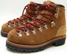WOMENS VTG DEXTER BROWN SUEDE LEATHER MOUNTAINEERING BOOTS SZ 5.5~1/2 M USA MADE
