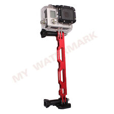 Red Aluminium Extension Arm Helmet Pole Mount for Gopro HD Hero 4 3+ 3 2 1