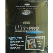 50 ULTRA PRO 3-POCKET Pages 4 x 6 Sheets Protectors New photo postcard refill