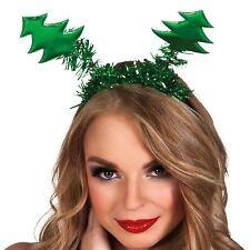 Testa Cerchietto Con Molle Albero Di Natale Cappello Accessorio Vestito Elfo