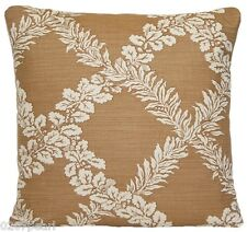 Trellis Cushion Cover Nichlas Haslam Printed Linen Fabric Mustard Square 16""