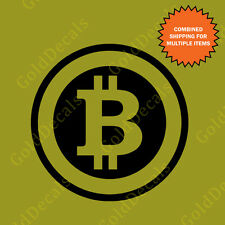 Bitcoin -- Vinyl Decal Car Truck Mac Funny Currency Sticker Graphic Internet
