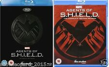 AGENTS OF SHIELD COMPLETE SERIES 1 AND 2 BLU RAY All Eps. 1st 2nd Season NEW UK