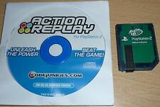 Action replay pour SONY PLAYSTATION 2 PS2 game cheat code système carte mémoire 8MB