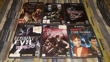 Resident Evil Game lot 0, 1, 2, 3, 4, 5, Code Veronica wii gamecube Collection