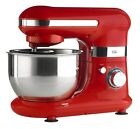 Red Electric Stand Mixer With Bowl & Attachments - 6 Speed - Kitchen Whisk